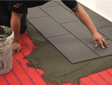 install underfloor heating system