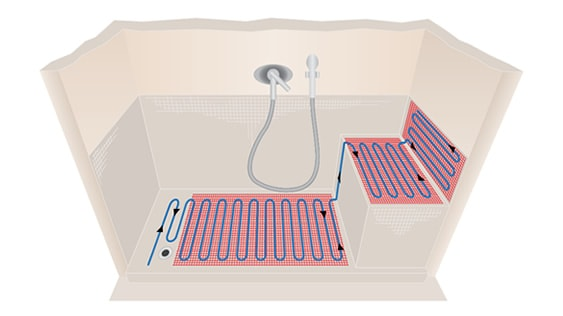 underfloor heating wet room shower tray